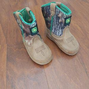 John deere baby boy 3 month velcrow boots